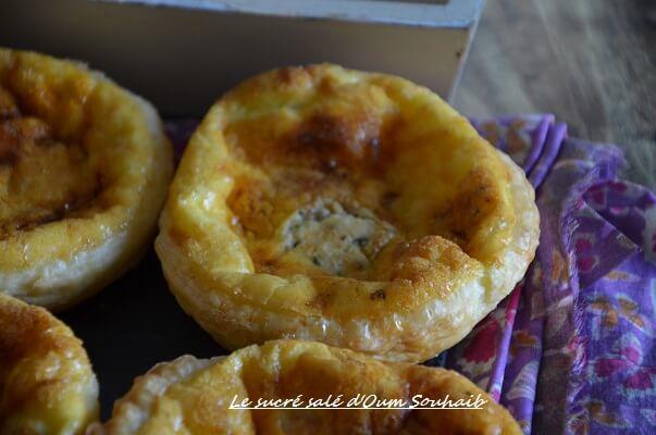 mini quiche aperitif au fromage gorgonzola et comté recette facile