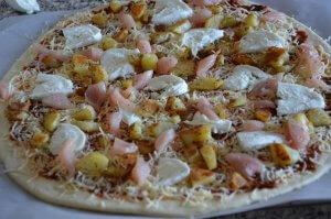 pizza au poulet et pomme de terre 2