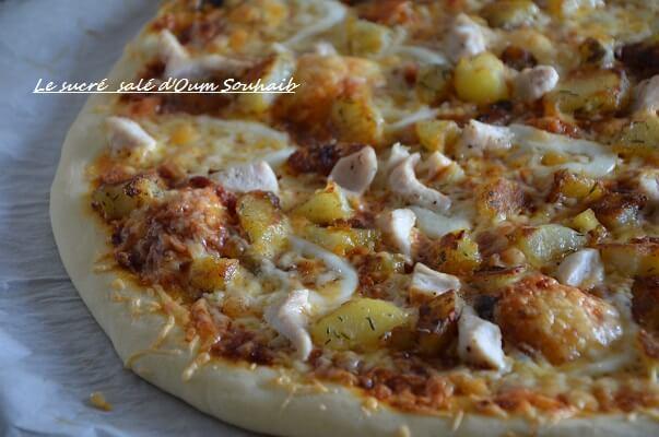 pizza poulet pomme de terre