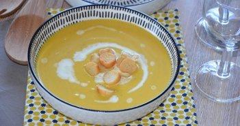 soupe de citrouille et pomme de terre facile au curry courge potiron