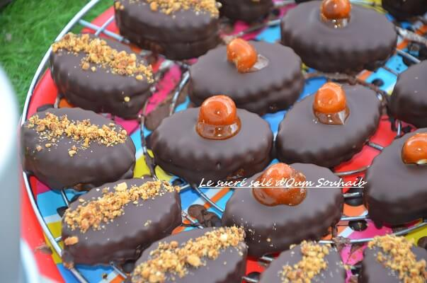 biscuit sablé au chocolat praliné- sablé au chocolat praliné