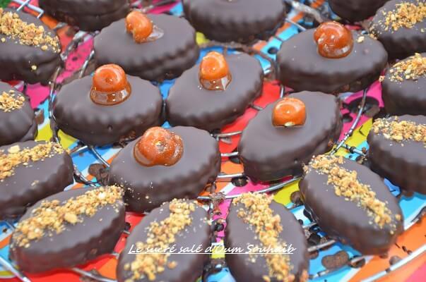 biscuit sablé au chocolat praliné - sablé au chocolat praliné