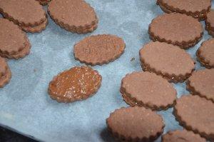 sablé au chocolat praliné