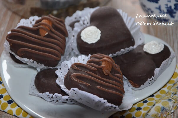 sablé au chocolat sans oeuf fourré au nutella facile et rapide gateau algerien