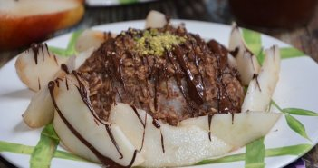 bowl cake à la poire et chocolat coulant-- bowl cake chocolat coulant - bowl cake chocolat poire