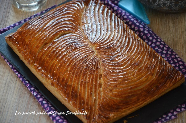 galette des rois frangipane praliné maison- galette des rois pâte feuilletée inversée