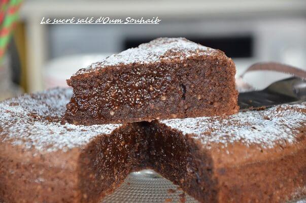 gâteau au chocolat fondant mi-cuit