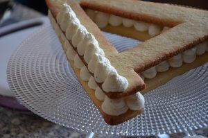 recette letter cake ou gâteau lettre 12