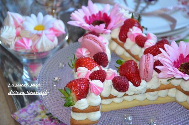 recette letter cake- number cake- gateau lettre