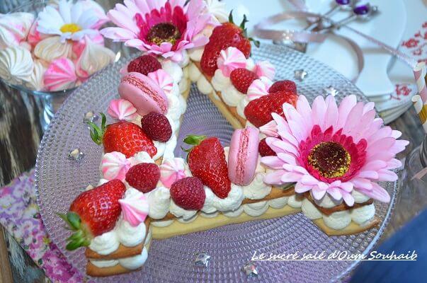 recette letter cake ou gâteau lettre 5