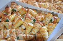 cornet salé aux crevettes