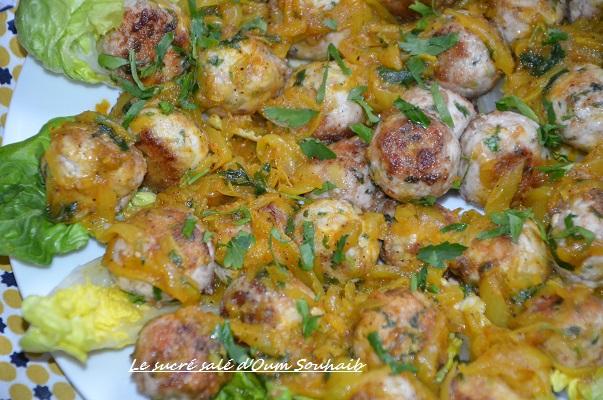 boulettes de poulet aux olives à la marocaine tajine