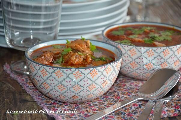 chorba frik soupe algerienne au blé concassé