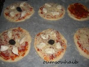 mini pizz thon non cuite