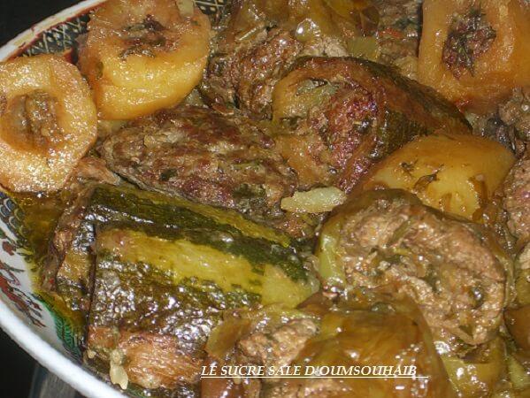 légumes farcis en sauce dolma algérienne recette