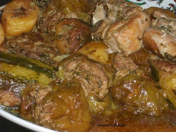 légumes farcis en sauce dolma algérienne recette mahchi