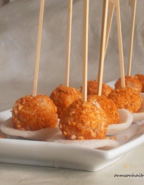 truffes salées au thon pour apéritif
