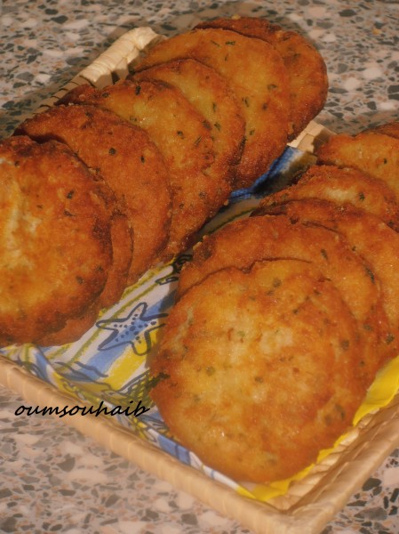 galettes de pommes de terre au thon