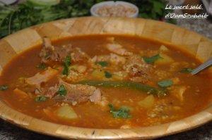 recette aich algérien (berkoukes au poulet et agneau) 1