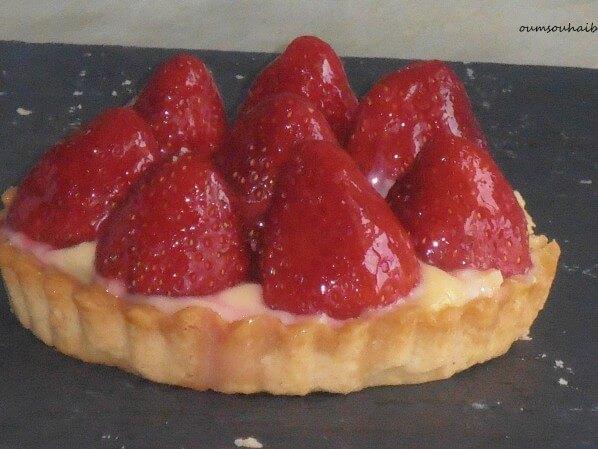 tartelette-fraises en coeur