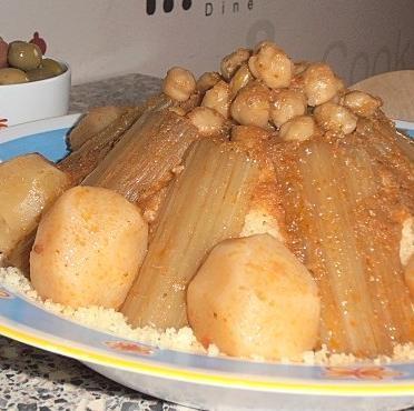 couscous aux cardons et navets,couscous de l'aid