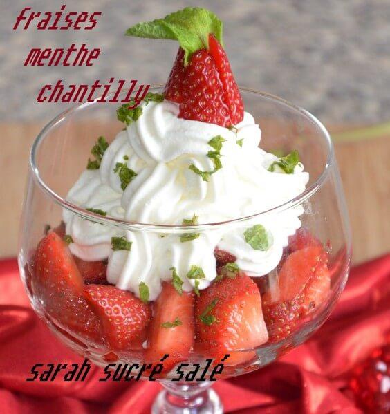 fraises menthe chantilly
