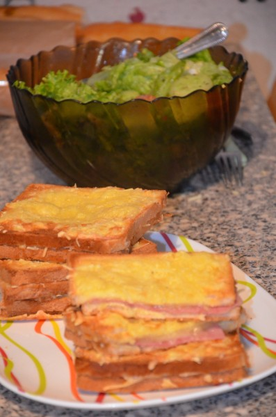 Croque monsieur au four