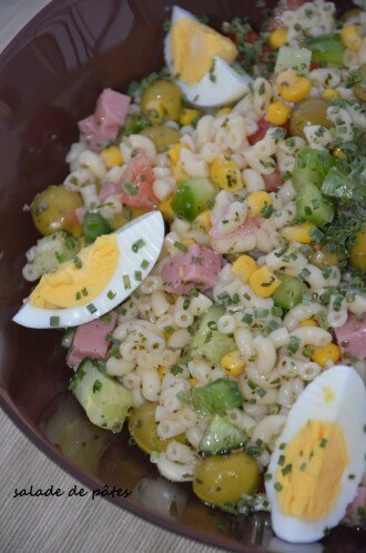 salade de pates coquillette sauce onctueuse
