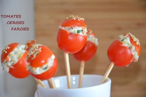 Tomates cerises farcies pour apéritif