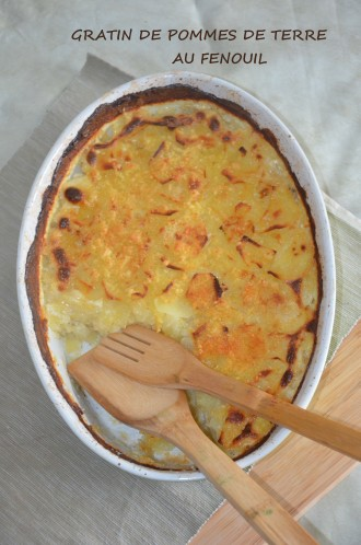 gratin de^pommes de terre et fenouil