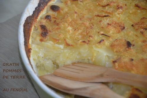 gratin de pomme de terre et fenouil