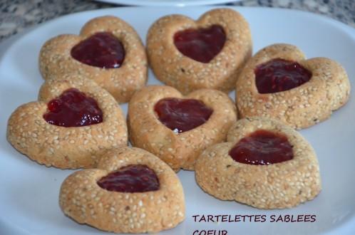 Tartelettes en coeur sablées