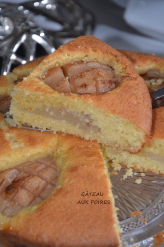 gâteau moelleux aux poires fraiches et amandes