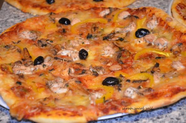 pizza royale poulet champignons et poivrons