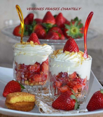 verrines fraises chantilly aux palets bretons