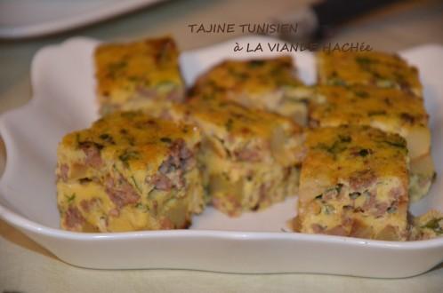 tajine tunisien à la viande hachée
