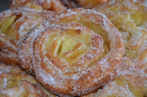 beignets escargot aux pommes roulés moelleux facile rapide