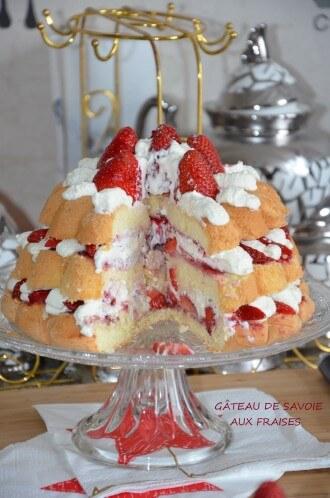 gâteau de savoie aux fraises