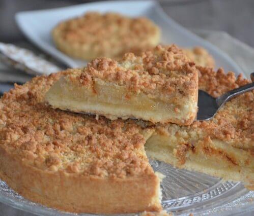 tarte aux pommes façon crumble amande