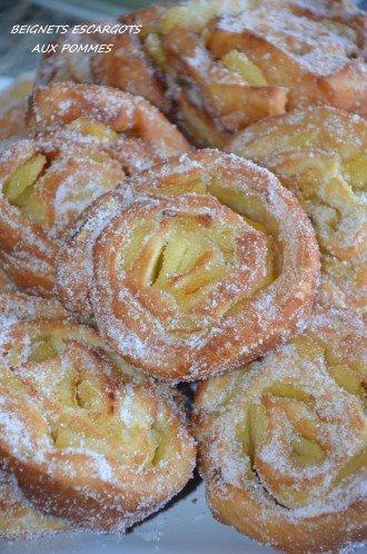 beignets escargots aux pommes beignet roulé facile rapide et moelleux
