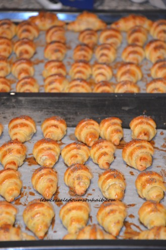 croissants feuilletés au saumon fumé