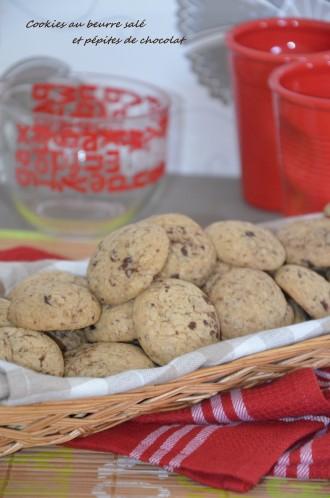 Cookies au beurre salé et pépites de chocolat