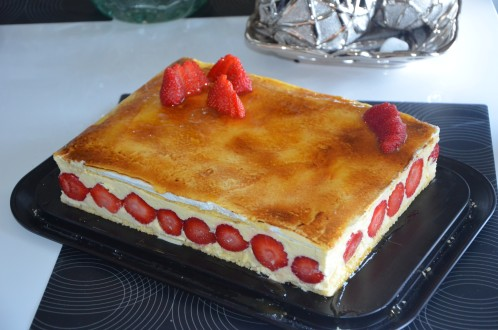 fraisier de Christophe Felder crème mousseline crème au beurre légère à la pistache