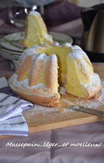 massepain gâteau léger et moelleux