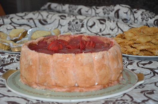 Charlotte aux fraises crème bavaroise 2