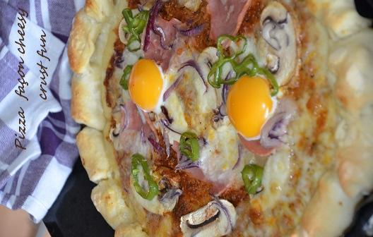 pizza façon cheesy crust fun