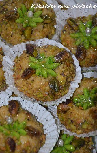 gâteaux algériens kikaates aux pistaches