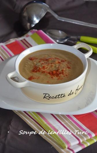 soupe de lentilles turc mercimek çorbasi