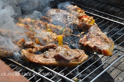selle d'agneau marinée au barbecue Le Sucré Salé d'Oum Souhaib