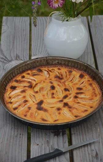 tarte aux pommes alsacienne facile (tarte flan)